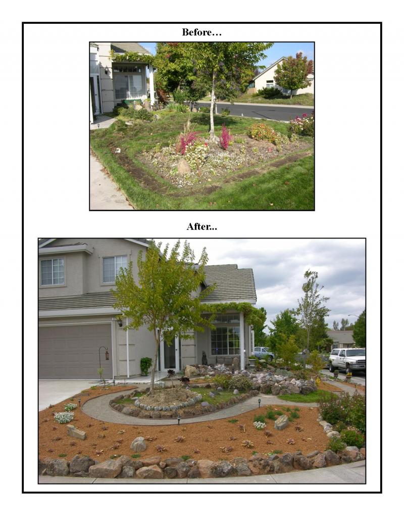 Small Front Yard Landscaping Before And After : Larry bender s landscaping the design